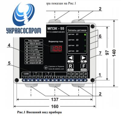 Станция управления РОСА-55Р5-20 А