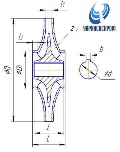 Рабочее колесо насоса 1Д1250-125